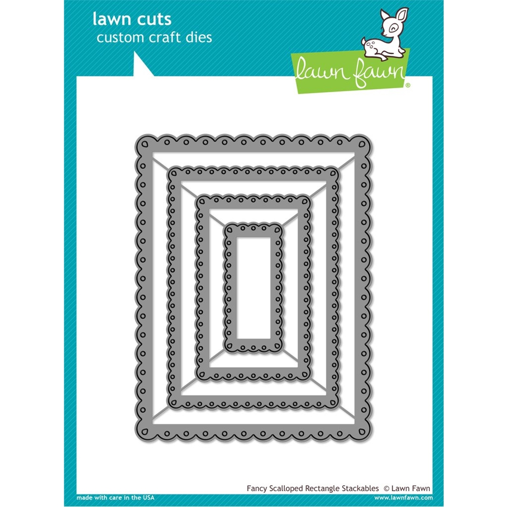 Lawn Fawn FANCY SCALLOPED RECTANGLE STACKABLES Lawn Cuts Dies LF1322 zoom image