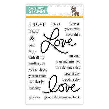 Simon Says Clear Stamps ALL MY LOVE SSS101696 Hey Love