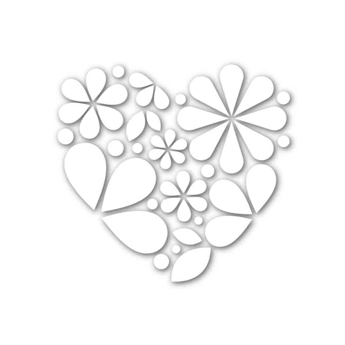 Simon Says Stamp HEART OF FLOWERS Wafer Die SSSD111660 Hey Love Preview Image