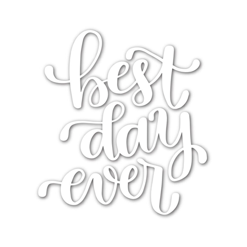 Simon Says Stamp BEST DAY EVER Wafer Die SSSD111678 Hey Love Preview Image