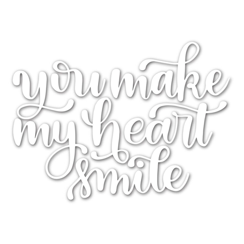 Simon Says Stamp HEART SMILE Wafer Die SSSD111680 Hey Love Preview Image