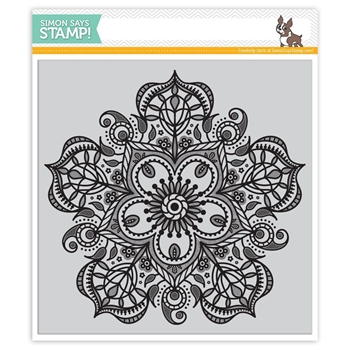 Simon Says Cling Rubber Stamp ELIZABETH BACKGROUND SSS101691 Hey Love