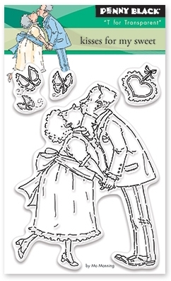 Penny Black Clear Stamps KISSES FOR MY SWEET 30 395 zoom image