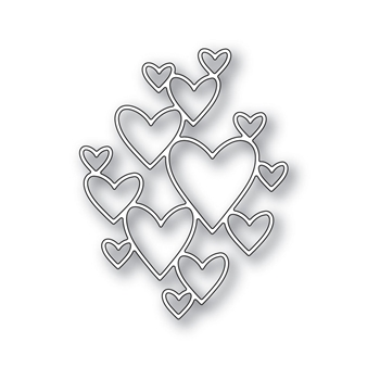 Simon Says Stamp CLIPPING HEART Wafer Die S422 Hey Love