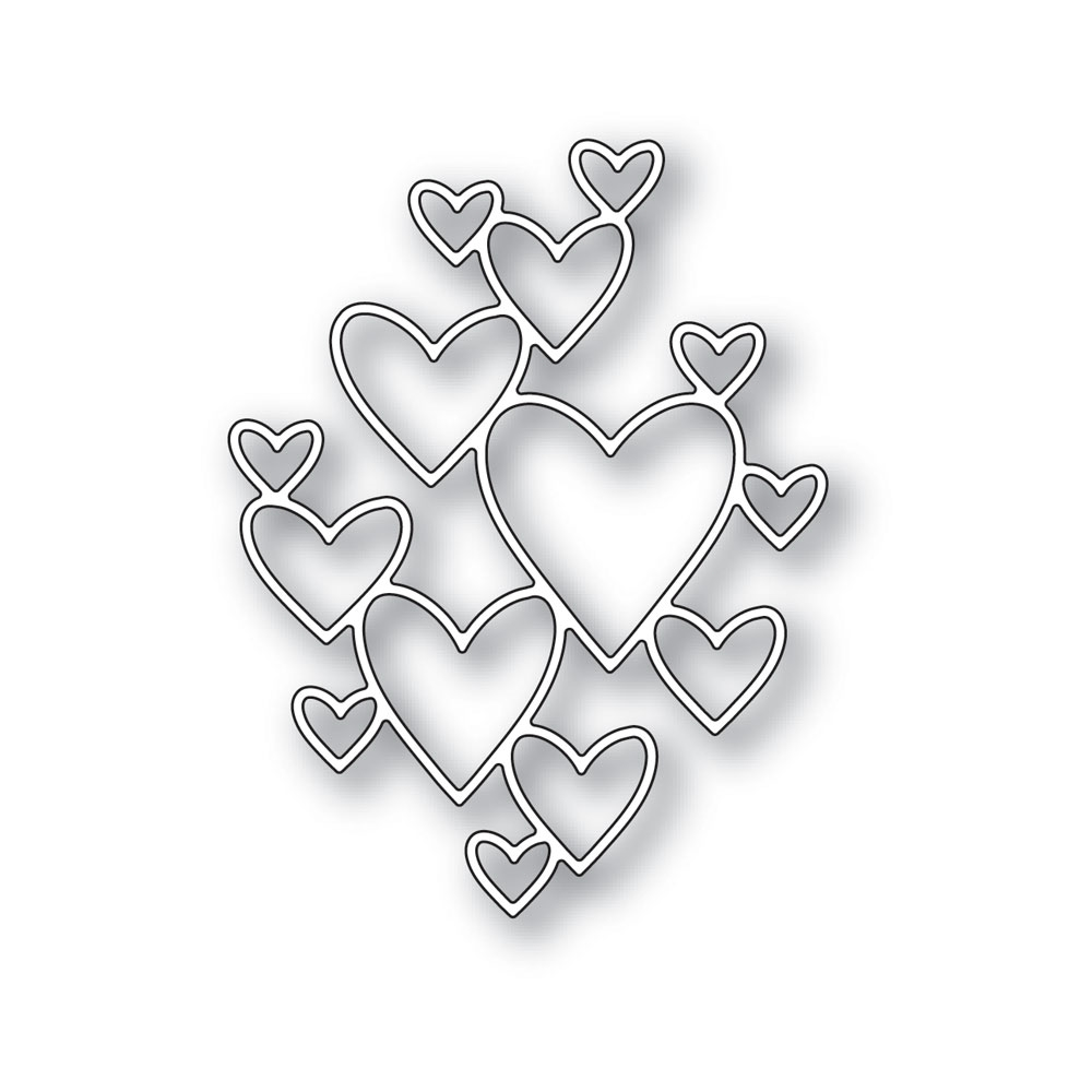 Simon Says Stamp CLIPPING HEART Wafer Die S422 Hey Love zoom image