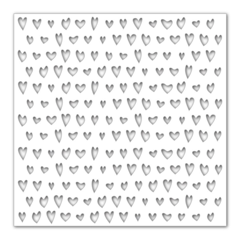 Simon Says Stamp Stencil DRAWN HEARTS SSST121389 Hey Love Preview Image