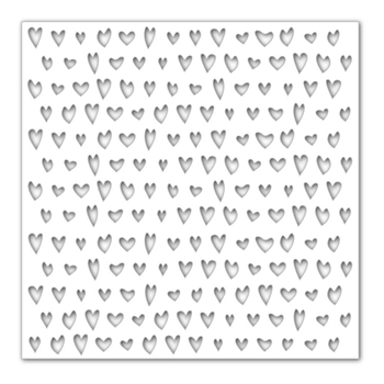 Simon Says Stamp Stencil DRAWN HEARTS SSST121389 Hey Love