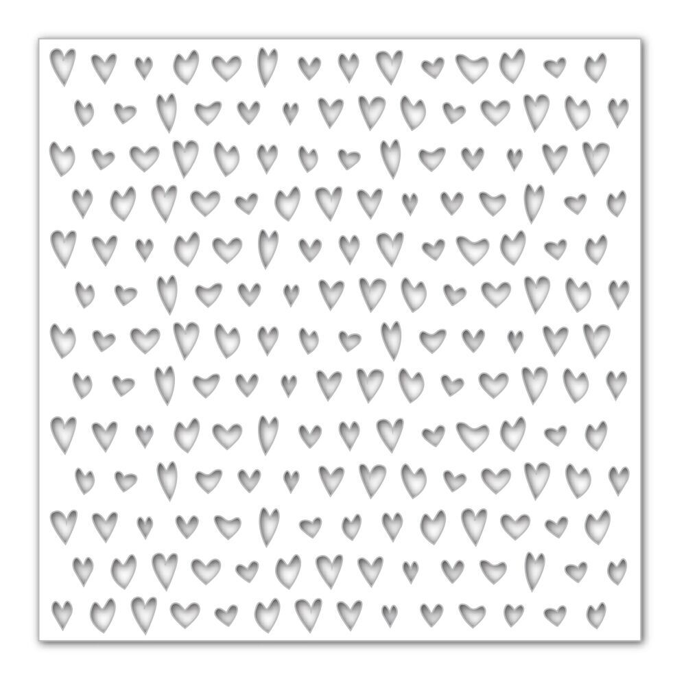 Simon Says Stamp Stencil DRAWN HEARTS SSST121389 Hey Love zoom image