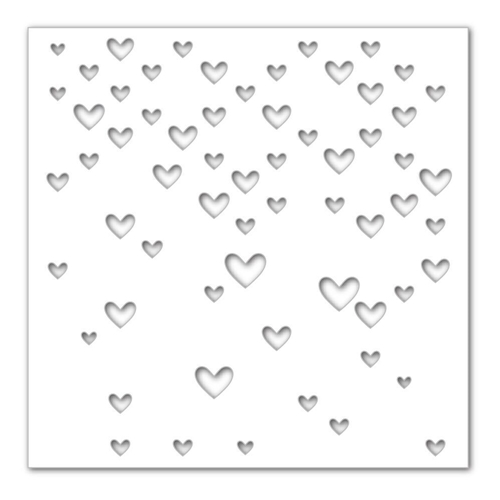 Simon Says Stamp Stencil LARGE FALLING HEARTS SSST121390 Hey Love Preview Image