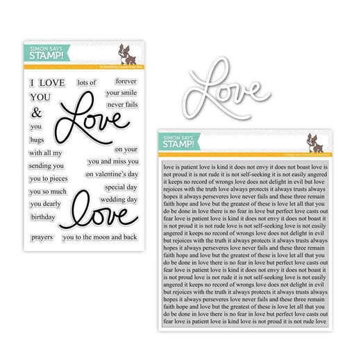 Simon Says Stamps And Dies LAURA'S LOVE Set286LL Hey Love Preview Image
