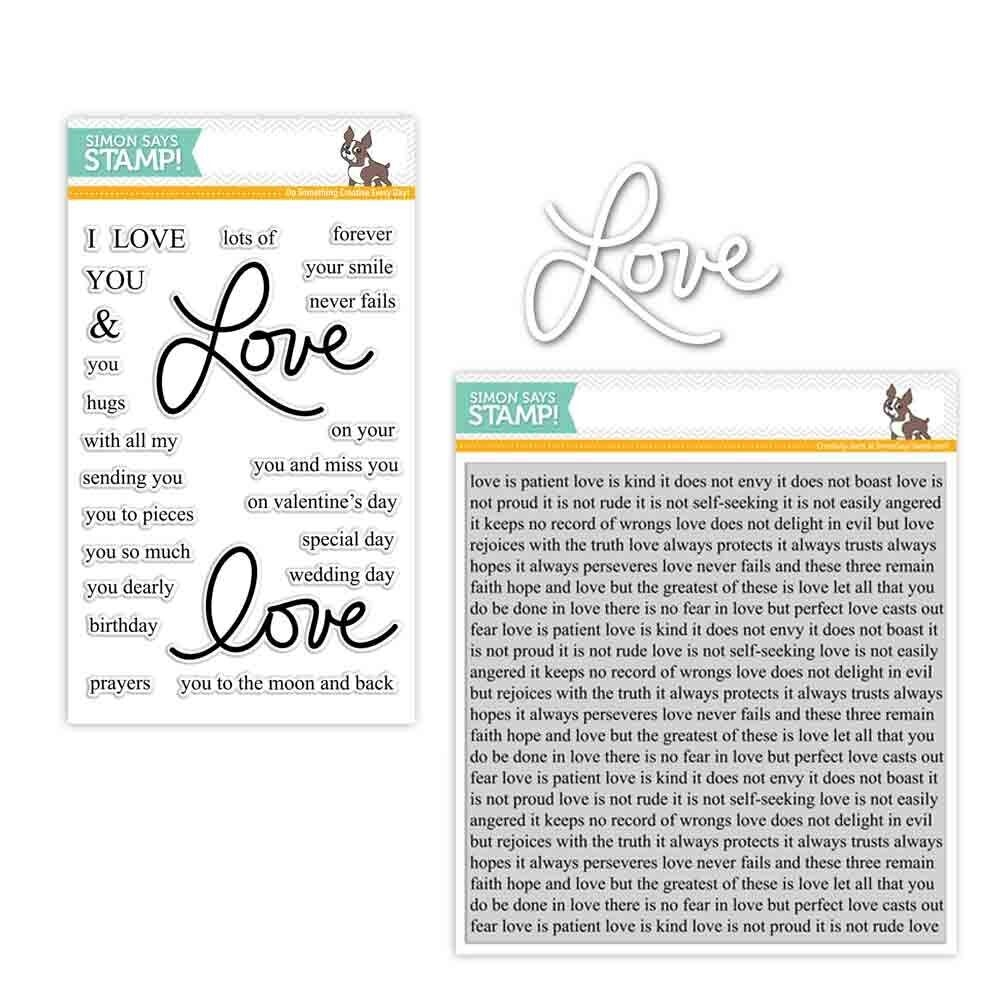Simon Says Stamps And Dies LAURA'S LOVE Set286LL Hey Love * zoom image