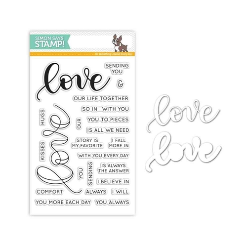 Simon Says Stamps And Dies KRISTINA'S LOVE Set287KW Hey Love Preview Image