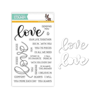Simon Says Stamps And Dies KRISTINA'S LOVE Set287KW Hey Love