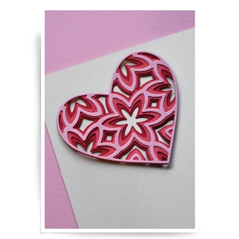 Birch Press Design CAPRICE HEART LAYER SET Craft Dies 56058