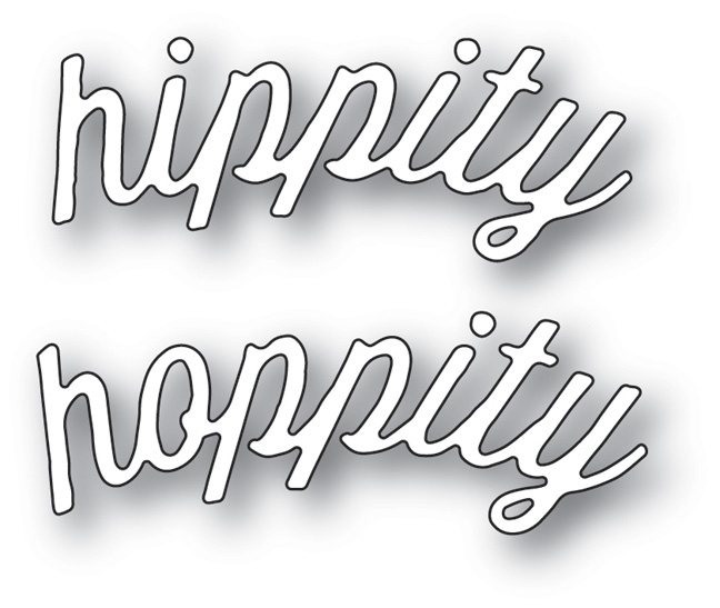 Memory Box HIPPITY HOPPITY CURVED SCRIPT Craft Die 99616 zoom image