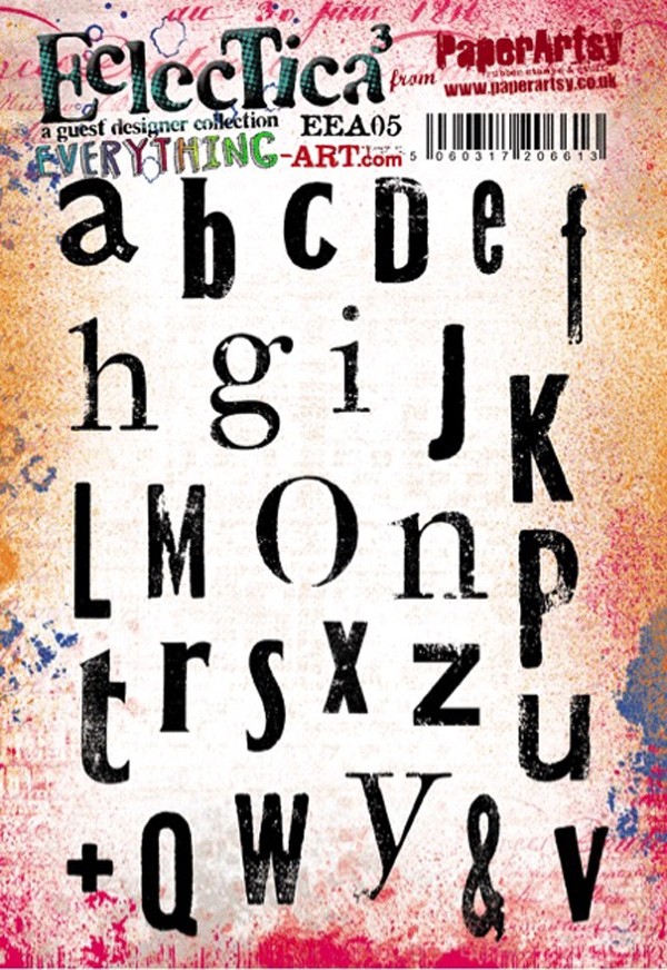 Paper Artsy EVERYTHING ART 05 ECLECTICA3 Rubber Cling Stamp EEA05* zoom image