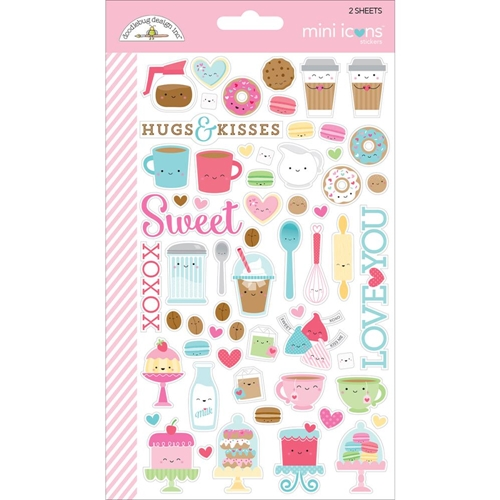 Doodlebug CREAM AND SUGAR Mini Icons Sticker Sheets 5705 Preview Image