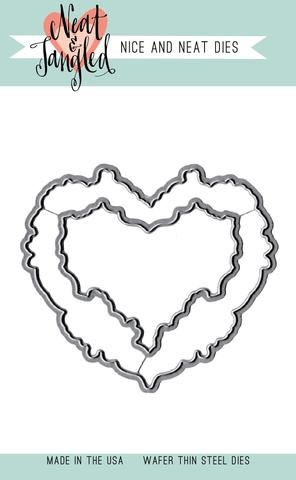 Neat and Tangled FLORAL HEART DIE Set NAT237 zoom image