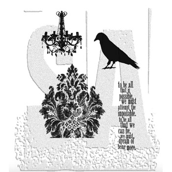 Tim Holtz Cling Rubber Stamps BIRDS and BAUBLES CMS039 **