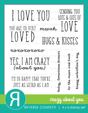 Reverse Confetti CRAZY ABOUT YOU Clear Stamp Set* zoom image