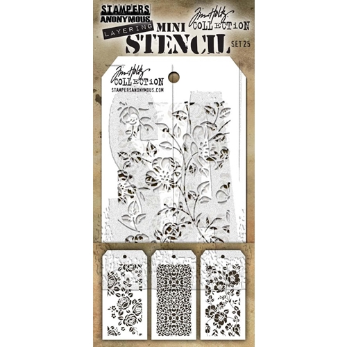 Tim Holtz MINI STENCIL SET 25 MST025 Preview Image