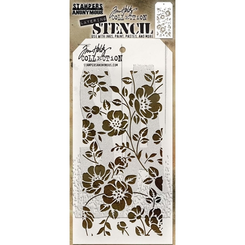 Tim Holtz Layering Stencil FLORAL THS077 Preview Image