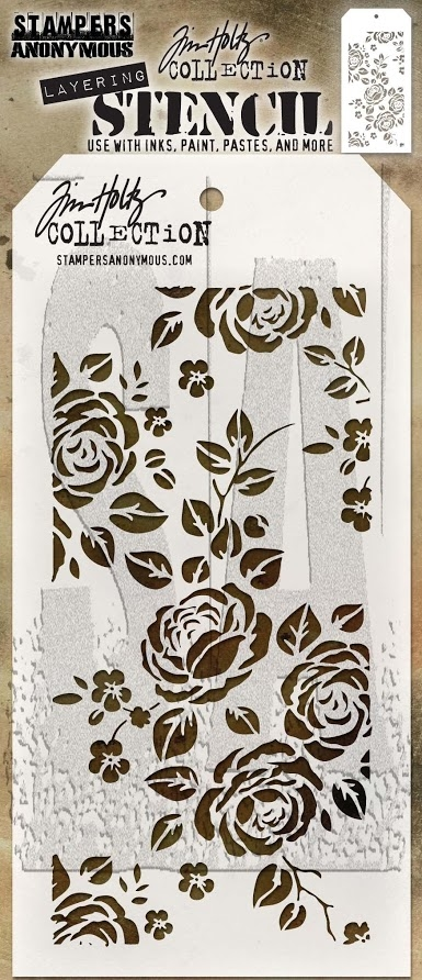 Tim Holtz Layering Stencil ROSES THS075 zoom image