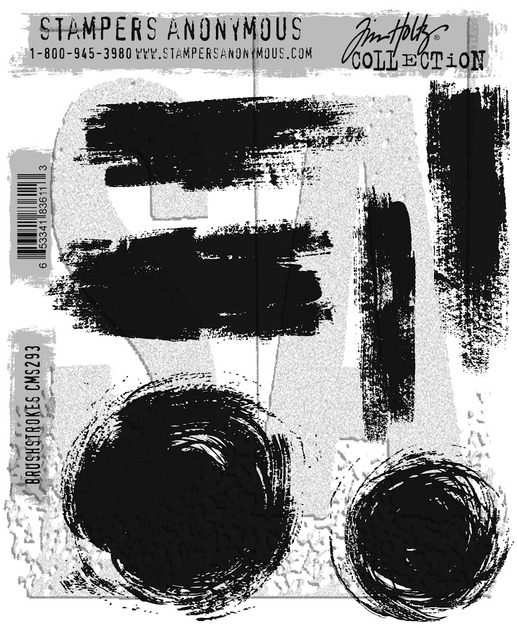 Tim Holtz Cling Rubber Stamps BRUSHSTROKES CMS293 zoom image