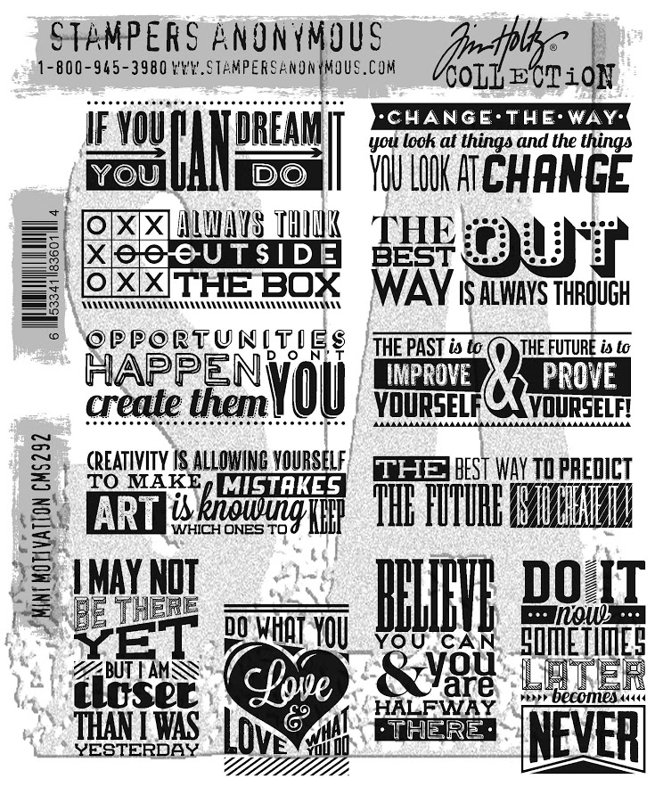 Tim Holtz Cling Rubber Stamps MINI MOTIVATION CMS292 zoom image