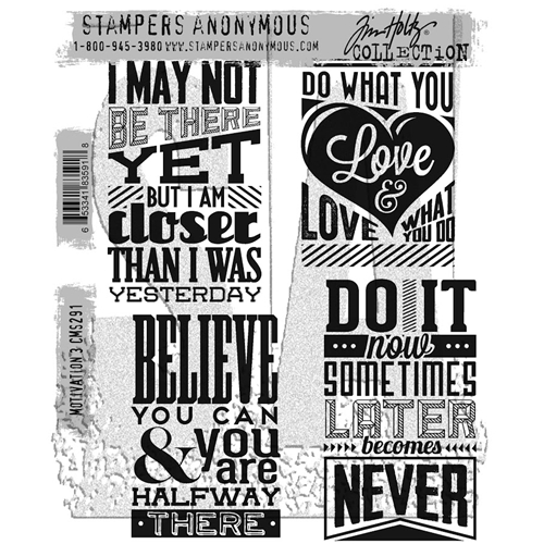 Tim Holtz Cling Rubber Stamps MOTIVATION 3 CMS291 Preview Image