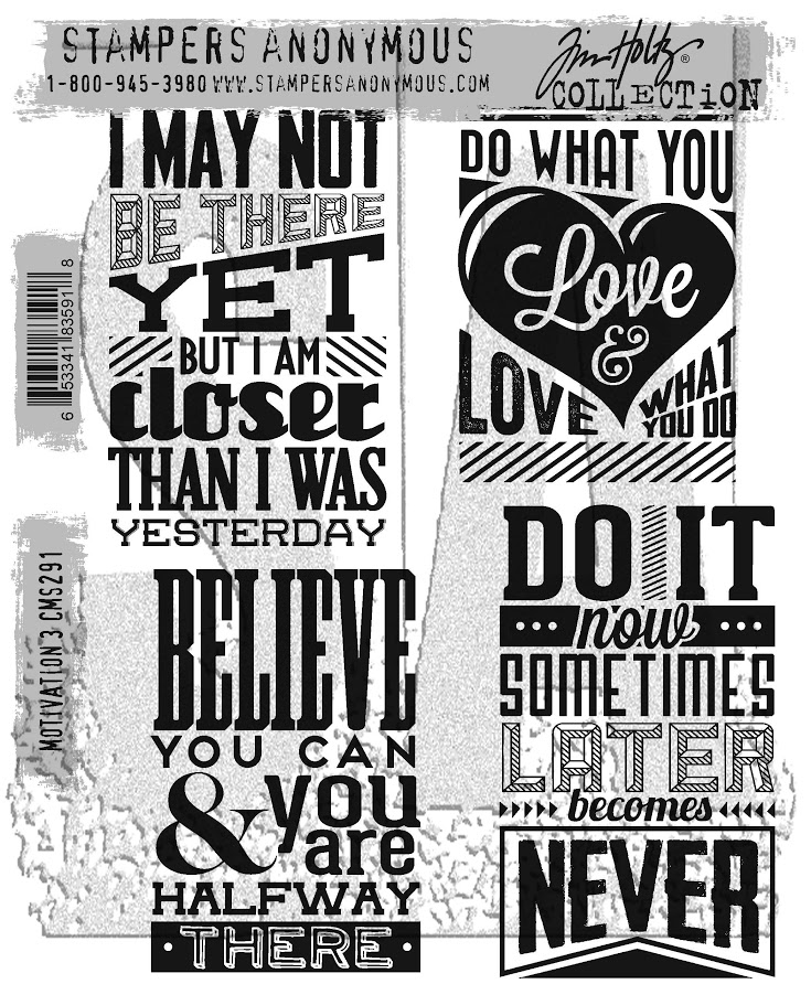 Tim Holtz Cling Rubber Stamps MOTIVATION 3 CMS291 zoom image