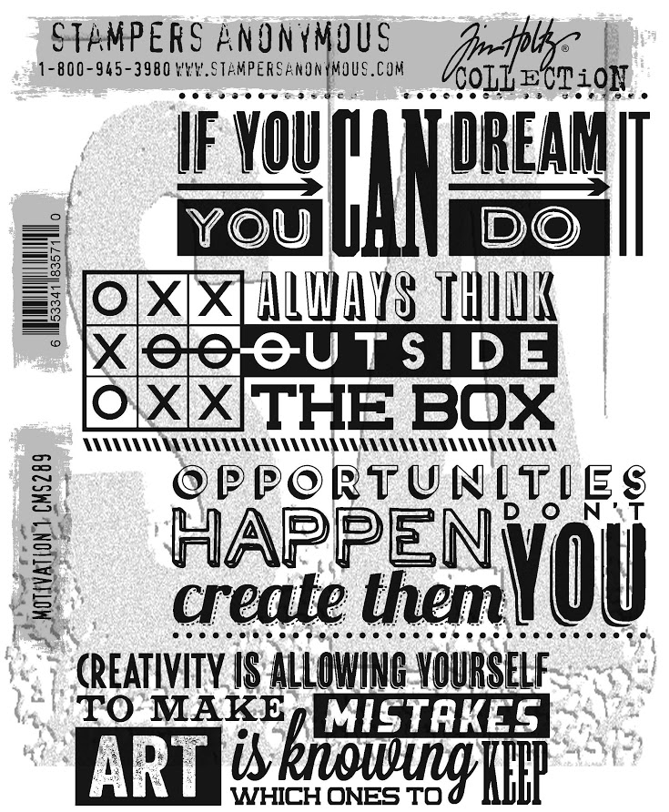Tim Holtz Cling Rubber Stamps MOTIVATION 1 CMS289 zoom image