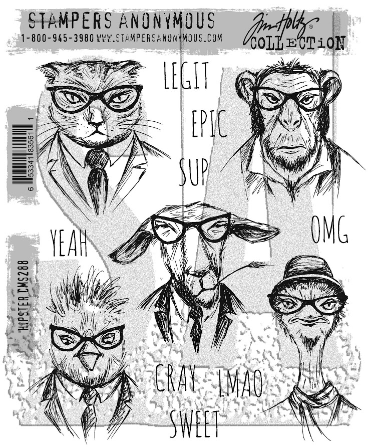 Tim Holtz Cling Rubber Stamps HIPSTER CMS288 zoom image