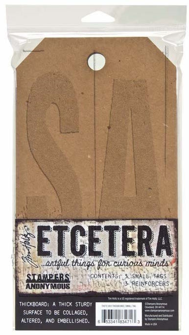 Tim Holtz Small Etcetera Tags x4