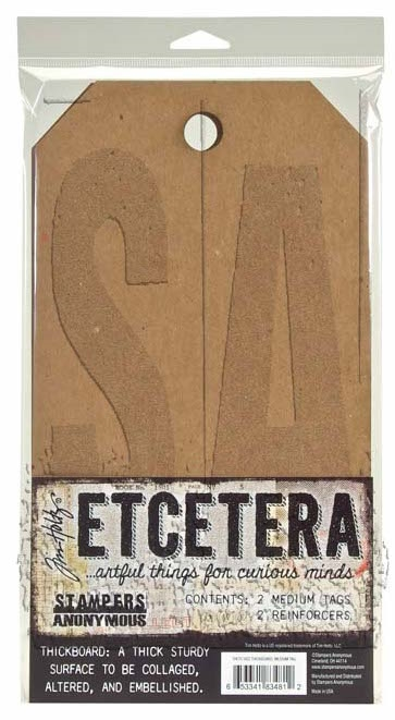 Tim Holtz Etcetera MEDIUM TAG Thickboards THETC-002 zoom image