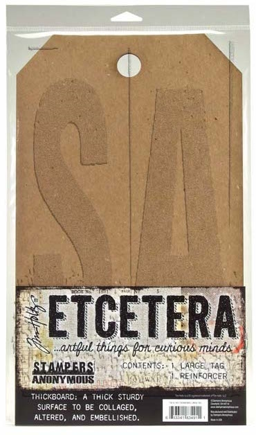 Tim Holtz Etcetera LARGE TAG Thickboards THETC-001 zoom image