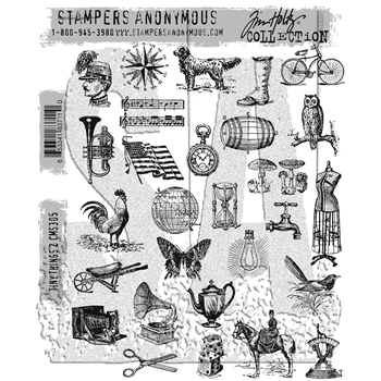 Tim Holtz Cling Rubber Stamps TINY THINGS 2 CMS305