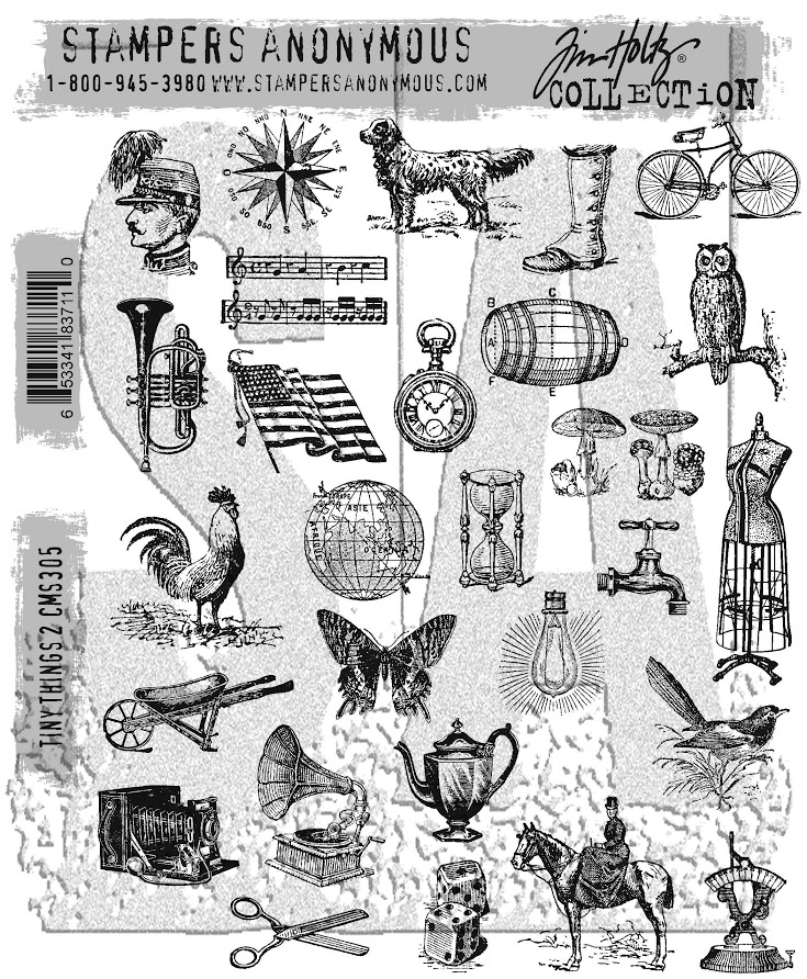 Tim Holtz Cling Rubber Stamps TINY THINGS 2 CMS305 zoom image
