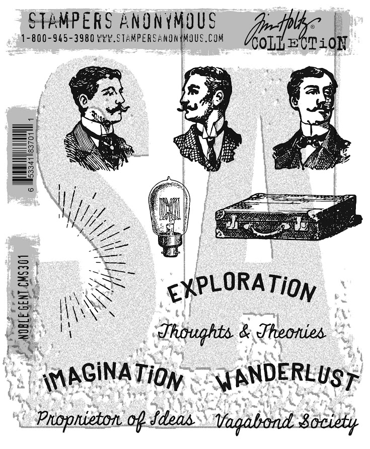 Tim Holtz Cling Rubber Stamps NOBLE GENT CMS301 zoom image