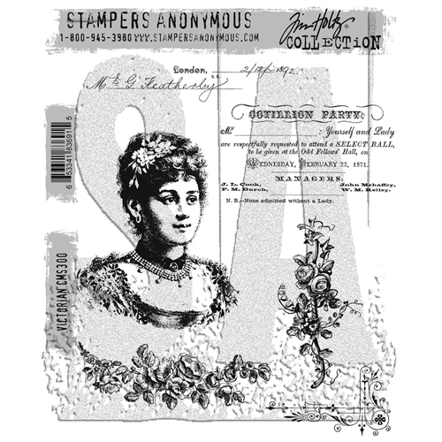 Tim Holtz Cling Rubber Stamps VICTORIAN CMS300 Preview Image