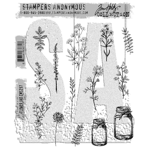 Tim Holtz Cling Rubber Stamps FLOWER JAR CMS297 Preview Image