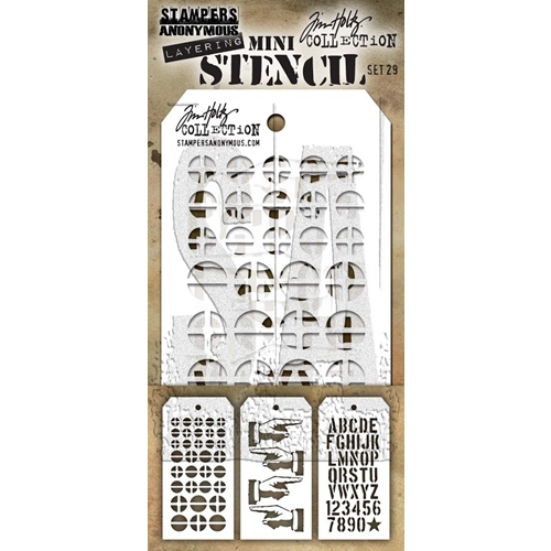 Tim Holtz MINI STENCIL SET 29 MST029 Preview Image