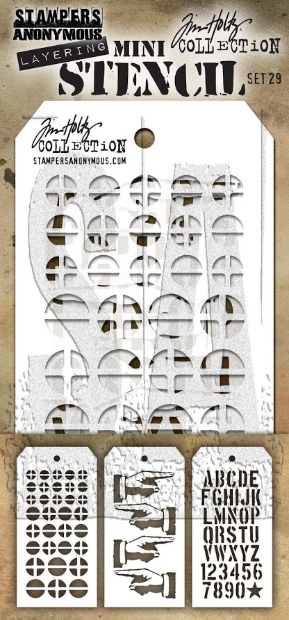 Tim Holtz MINI STENCIL SET 29 MST029 zoom image
