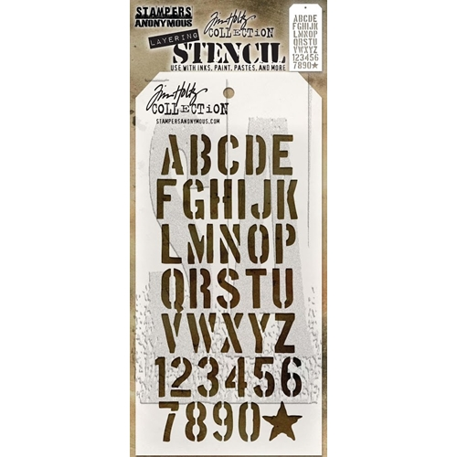 Tim Holtz Layering Stencil CRATE THS089 Preview Image