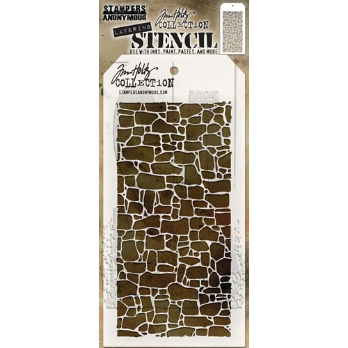 Tim Holtz Layering Stencil STONE THS086 Preview Image