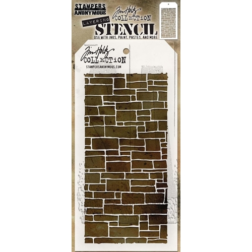 Tim Holtz Layering Stencil SLATE THS085 Preview Image