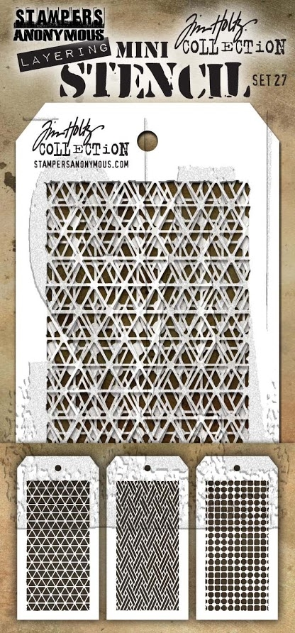 Tim Holtz MINI STENCIL SET 27 MST027 zoom image