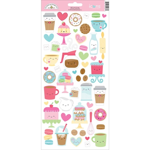 Doodlebug CREAM AND SUGAR Icons Cardstock Stickers 5487* Preview Image