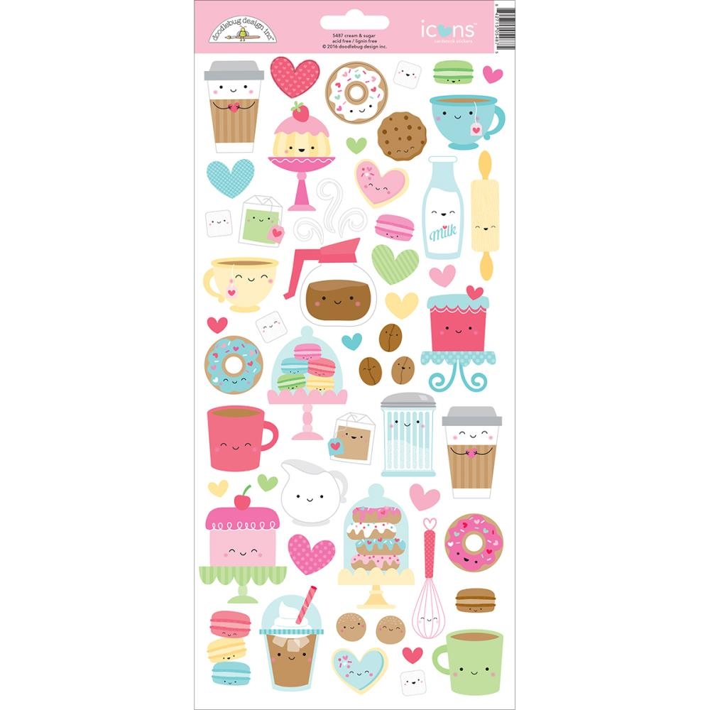 Doodlebug CREAM AND SUGAR Icons Cardstock Stickers 5487* zoom image