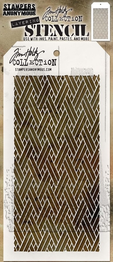 Tim Holtz Layering Stencil WOVEN THS082 zoom image